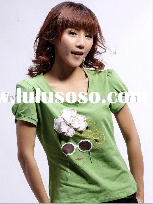 lady short sleeve funny t-shirts(Y030)
