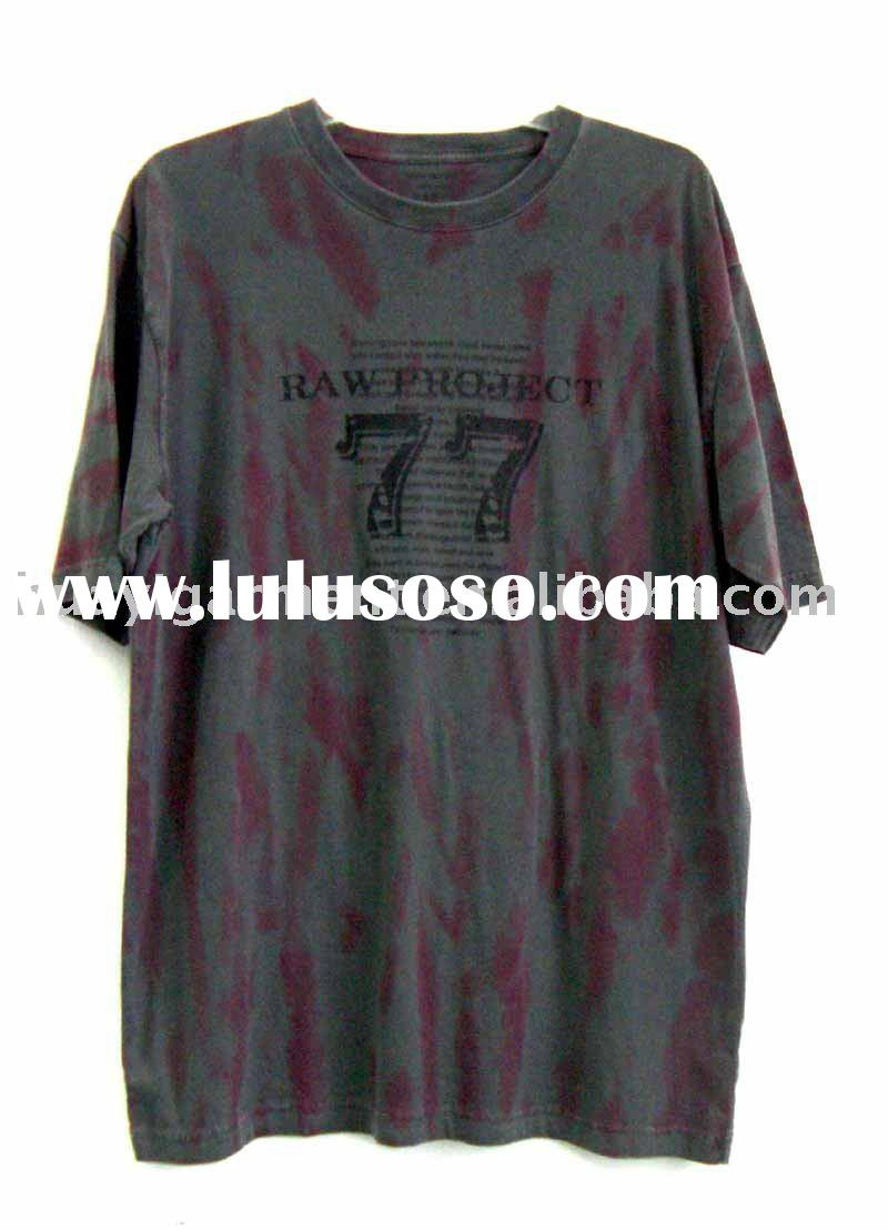 men's fashion 100%cotton with tie dyed t-shirt