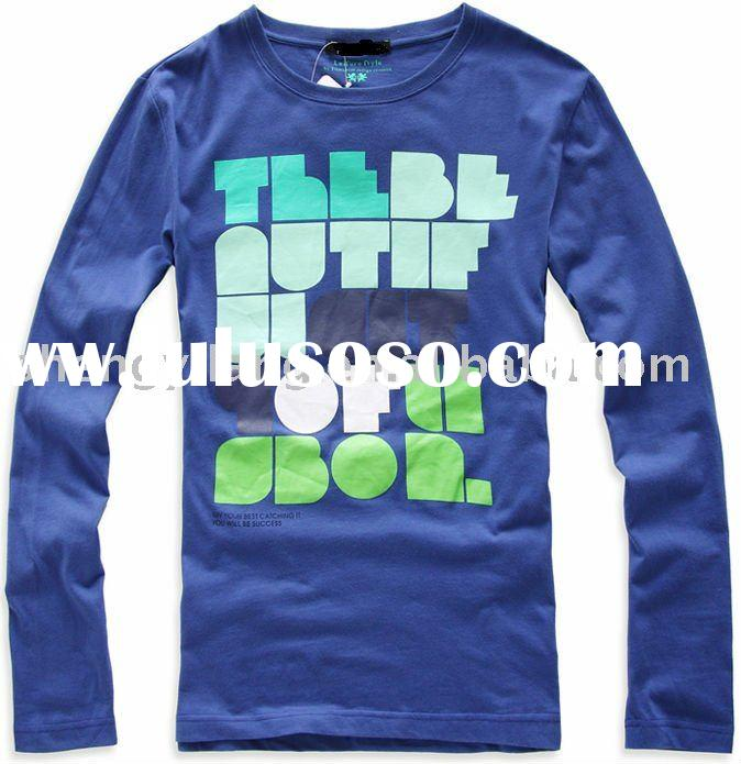 men' s fashion long sleeves t shirt