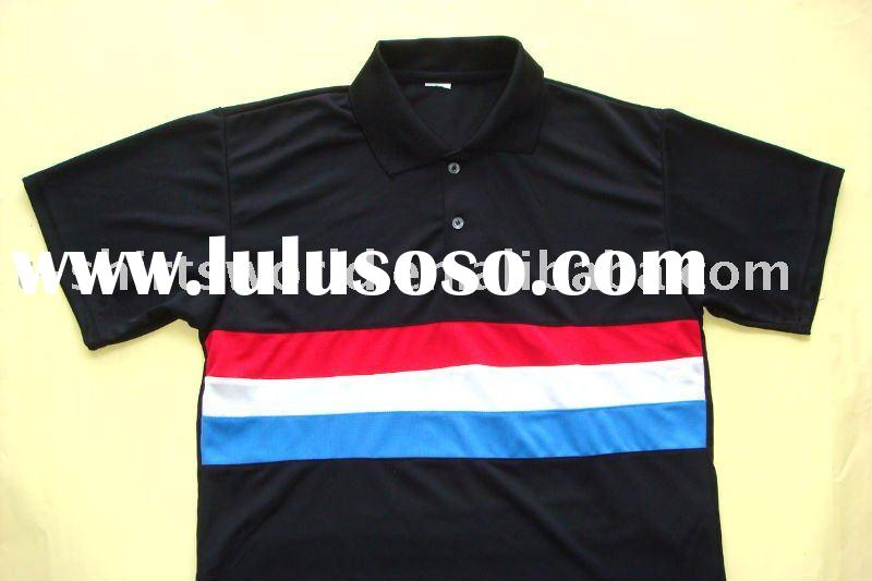 men's short sleeve striped polo t-shirt