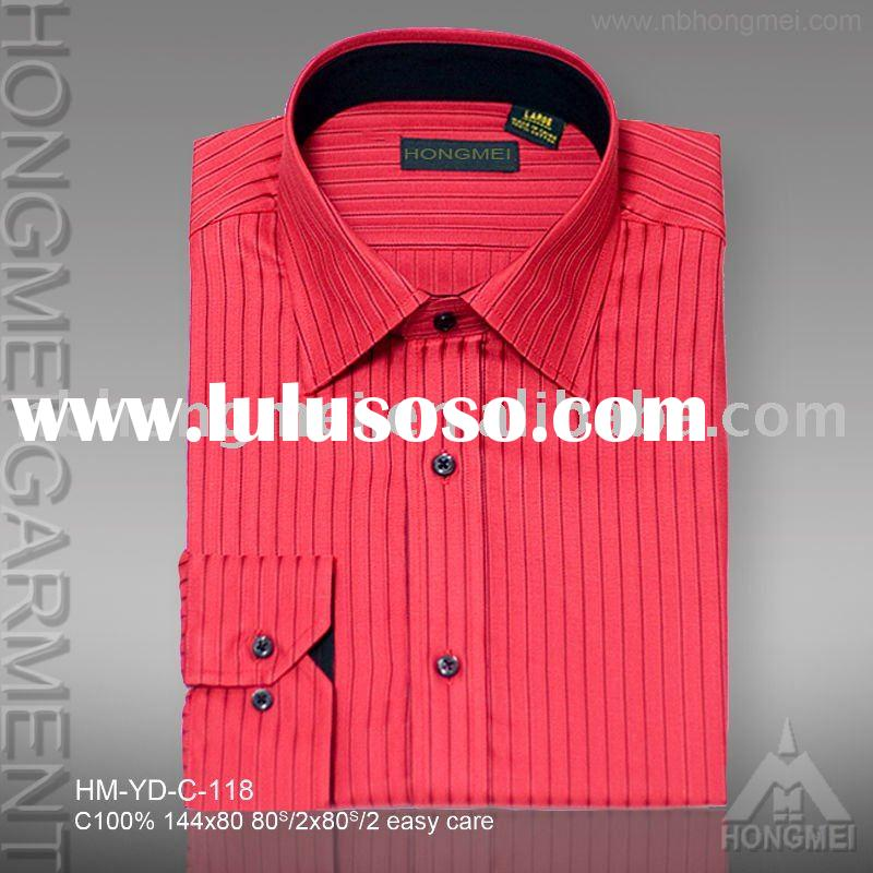 men's stripe dress cotton shirts