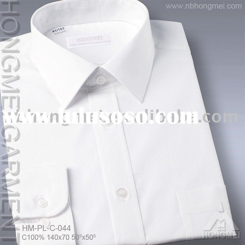 men's white cotton dress shirt