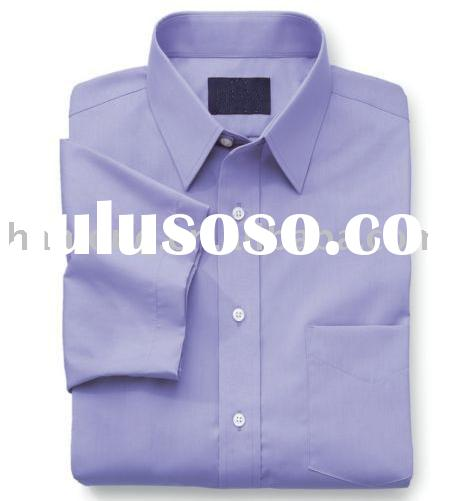 men's wrinkle-free dress shirt ( cotton/polyester long-sleeve )