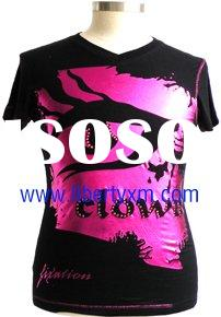modal men tshirt with hot pink foil print
