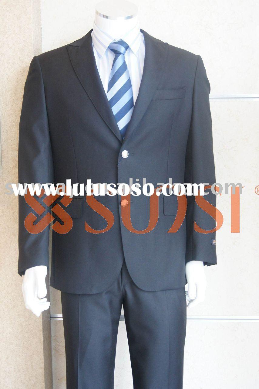 new style men's business suit wool/silk