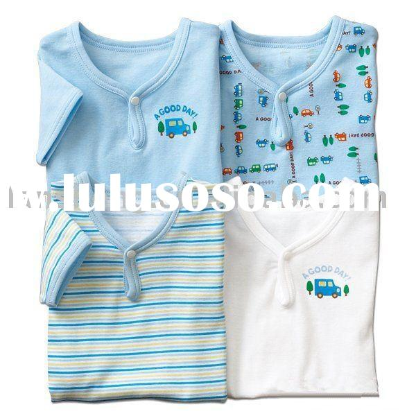 short sleeve cotton  baby t-shirt,baby garment