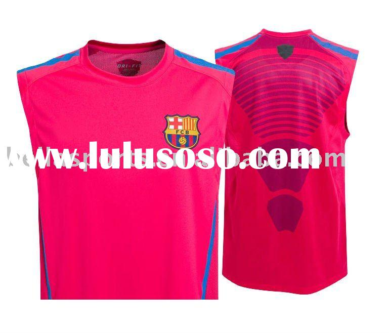 sleeveless soccer shirt- training top,2010/11 barcelona football jersey