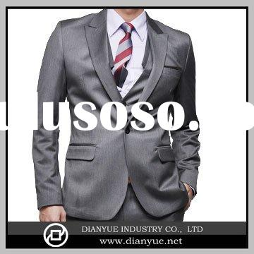 slim fit  gray  men's suit