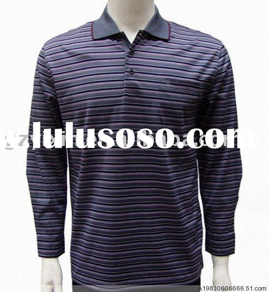 stripe long sleeve polo shirts