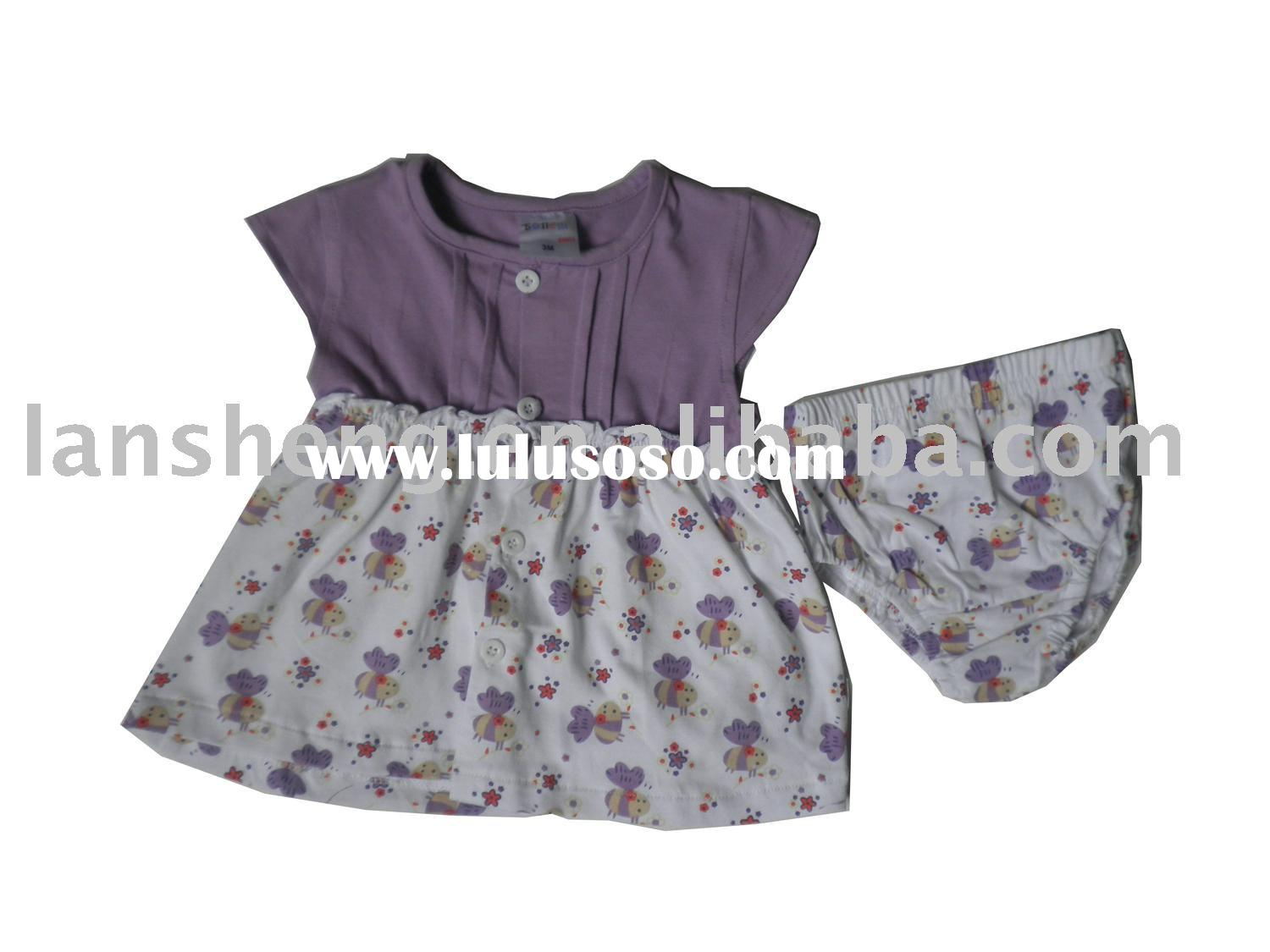 summer children dress,baby clothing sets