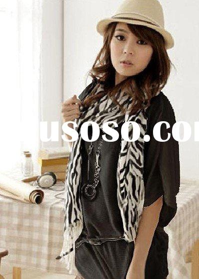 w09090303 White Long Round Collar Shirt  Black