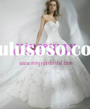 white organza appliqued whole shirt ball gown wedding dresses from china ek291