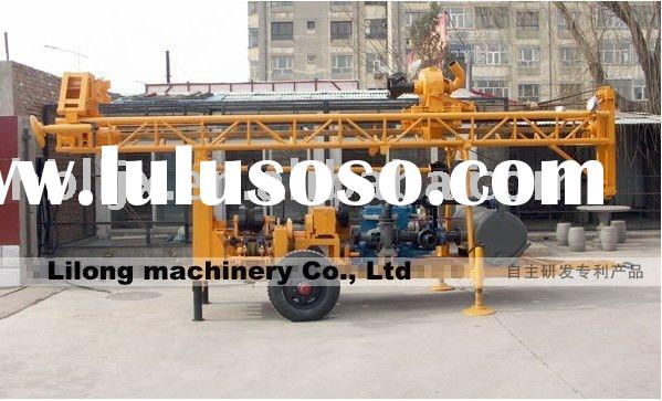 150m trailer mounted water well drilling rig