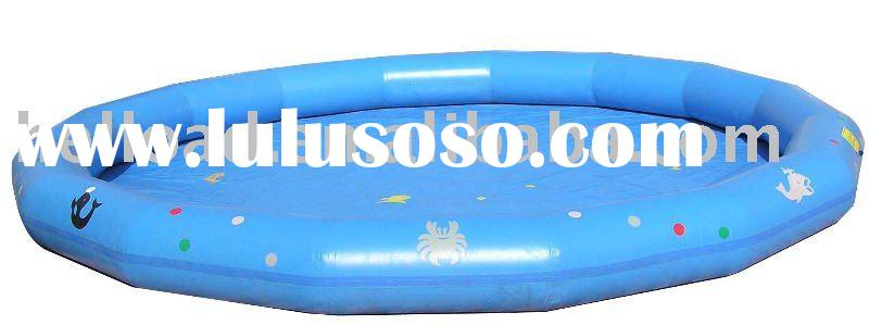 Big round inflatable swimming pool