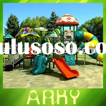 Children's Outdoor Playground Equipment With Combined Slide(Forest)