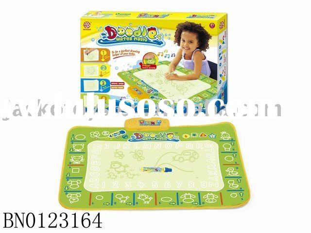 Drawing mat w/music,Doodle water magic play mat