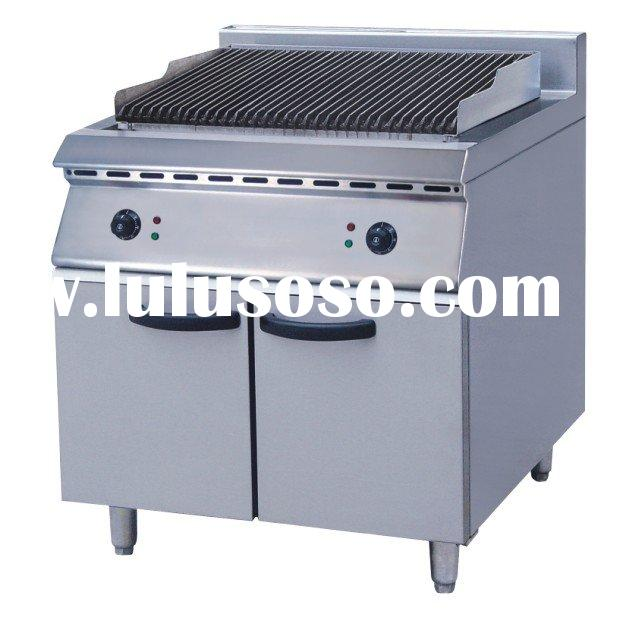 Electric Lava Stone Broiler with Cabinet