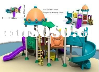 Plastic outdoor playground equipment