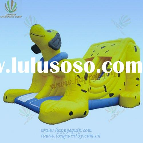 happy dog inflatable slide