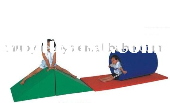 kids outdoor playground soft padded blocks equipment