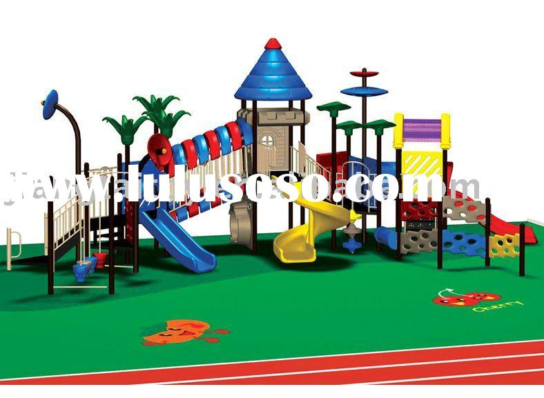 large-scaled outdoor playground equipment with colorful parts