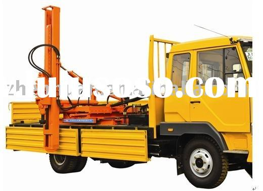Truck Mounted Hydraulic Post Puller : Electro hydraulic pile driver sf for sale price