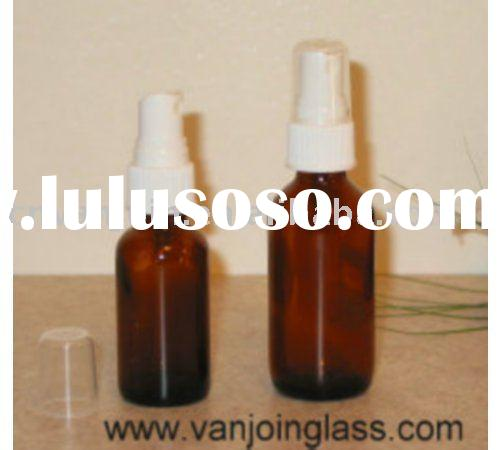 Amber Essential Oil Glass Bottle With White Cap