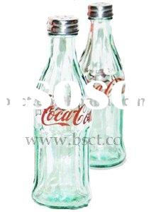 Coca Cola Bottle Salt and Pepper Shakers With Screw Cap