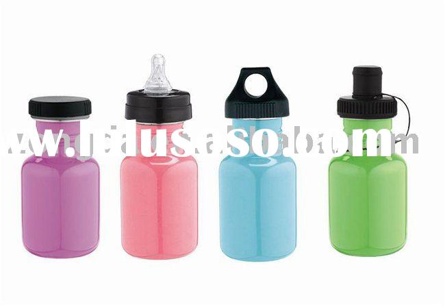 Single-wall Stainless Steel Sports Bottle for Kids with different Caps