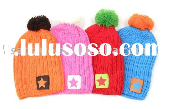 children kids knitted hats and scarf  /winter  Accessory