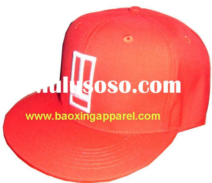 custom fitted baseball cap hat with flat bill