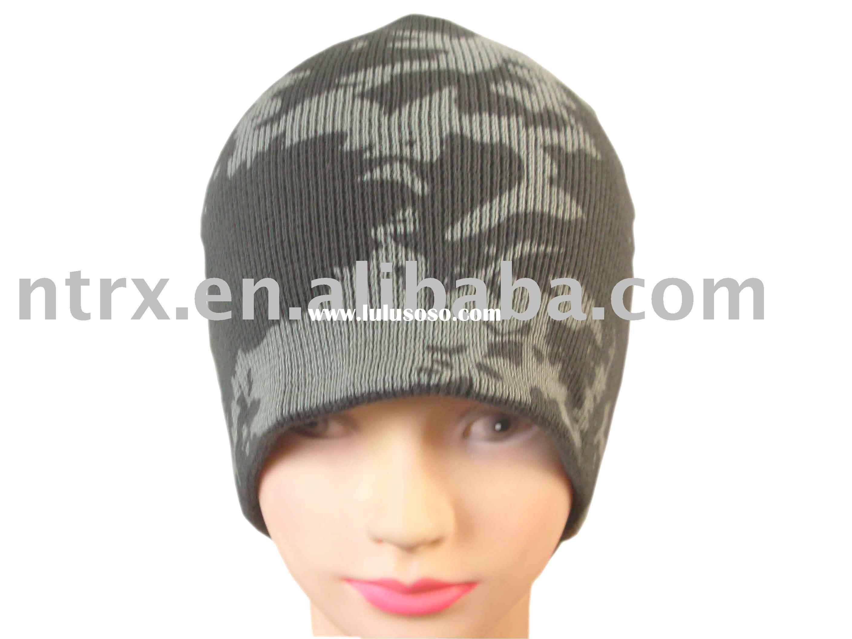 fashion printed knitting hat for men