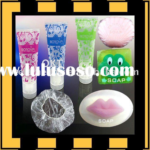 hotel supply/beauty soap/hair shampoo/shower gel/shower cap