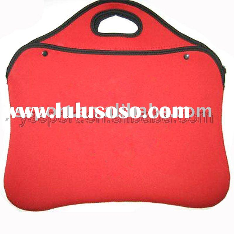 "14"" tote neoprene laptop bag/case/sleeve, red"