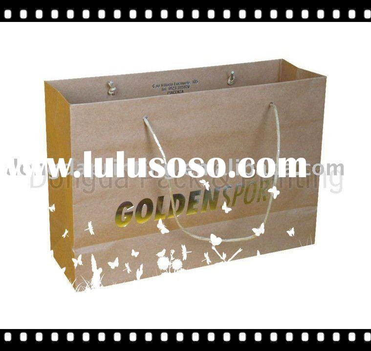 2011  Newest design Kraft Paper  bag,Brown kraft bag
