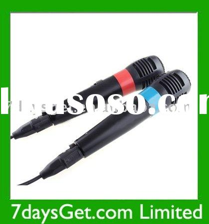 2x Wired Microphone Mic Set For Video Games PS3 + Free Shipping