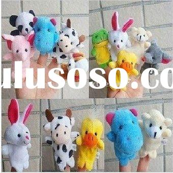 Animals finger puppets, 100 pcs Kids toy free shipping
