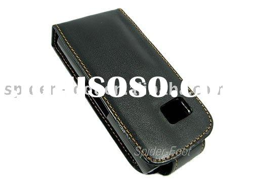 Black Flip Leather Case for Nokia X6  phone case