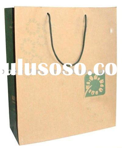 Brown paper bags with twisted handle
