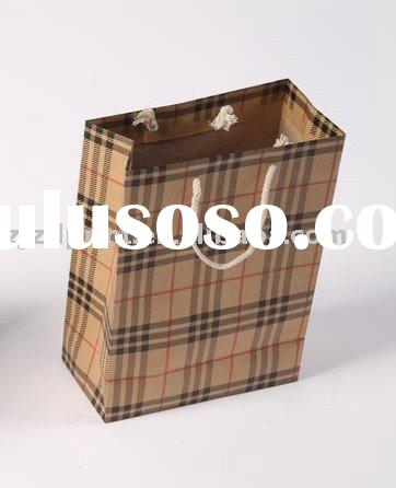 Brown paper shopping bag (recycled and fashional)
