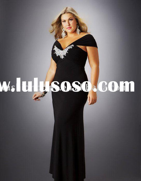 Cap sleeve chiffon  A-line gown full-length plus size  evening gown