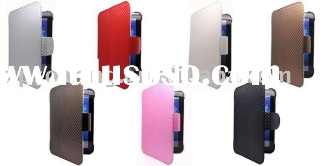 Carbon Fiber style leather case skin pouch bag for Samsung Galaxy Tab P1000