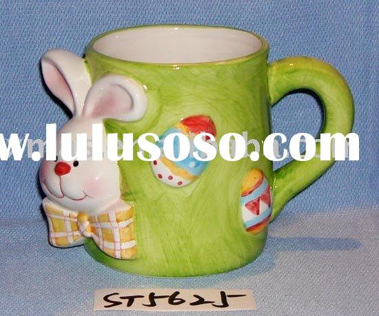 Easter bunny with mug