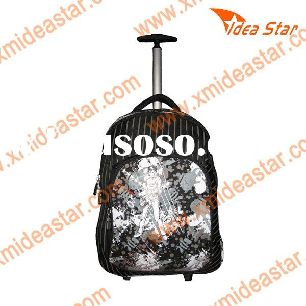 FOR009 high quality school bag with wheels