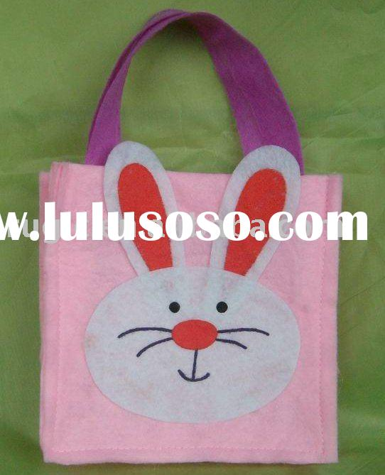 Felt easter spring bucket/bag/basket, Felt shopping bags handbags crafts, Felt gift baskets, Felt ho