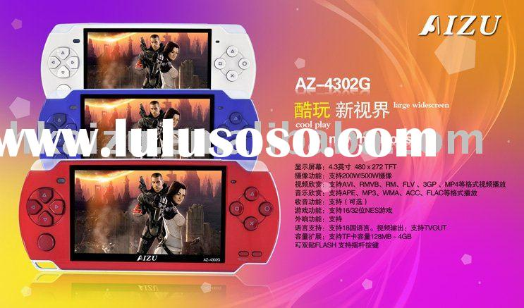 Game console with 4.3 inch screen and MP4 video support