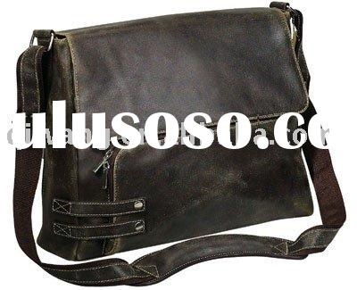 High quality leather laptop shoulder bag