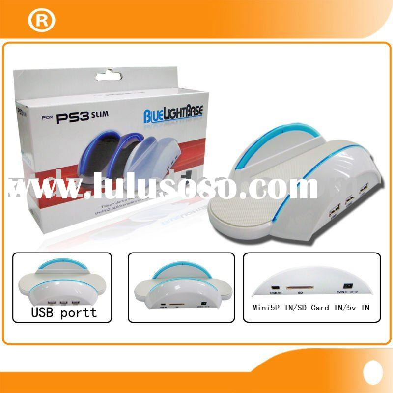 Hot selling product TP3-360 for PS3 Slim Blue Light Base White delivery date 3~5days wholesale guang