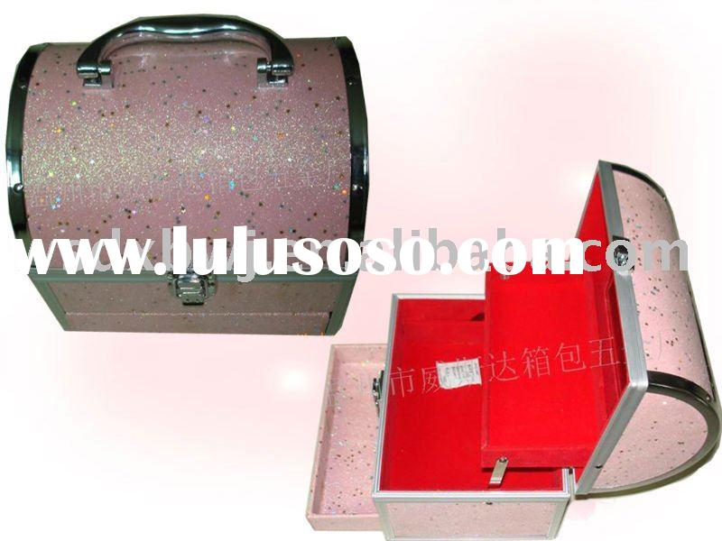 Lovely Pink aluminum makeup cosmetic case box