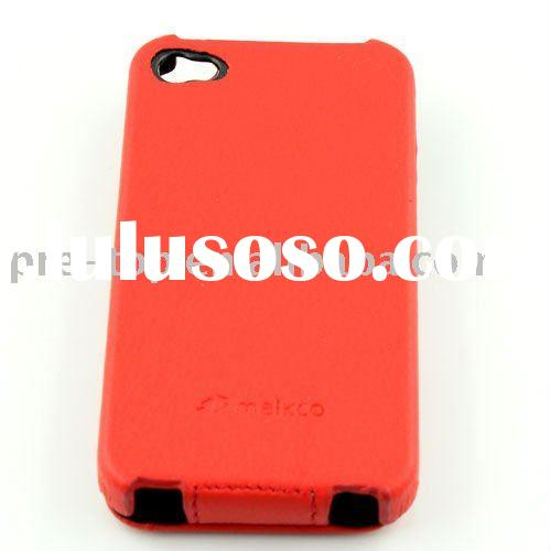 Melkco Premium Red Leather Case for  iPhone 4 (Red)